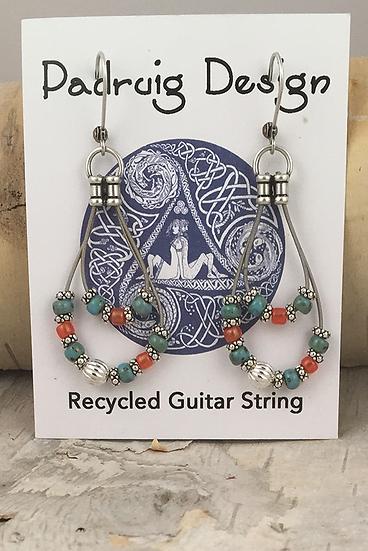 Double Guitar String Earrings