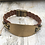 Thumbnail: Hand Stamped Amour Brown Leather Bracelet