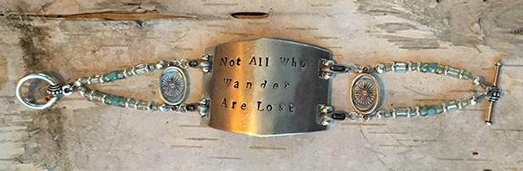 Wander Hand Stamped Bracelet