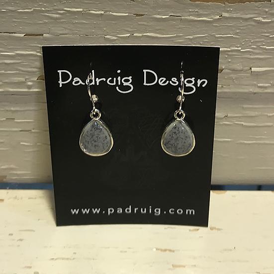 Silver Granite Earrings
