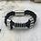 Thumbnail: Leather Electric Guitar String Bracelet Black