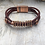 Thumbnail: Leather Acoustic Guitar String Bracelet Turkey Red