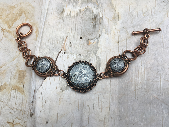 Copper Dream Horse Link Bracelet