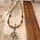 Thumbnail: Silver Amber Trinity Heart Necklace