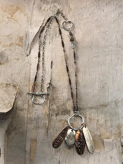 Silver Hoop Wander Necklace