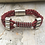 Thumbnail: Leather Electric Guitar String Bracelet Burgandy
