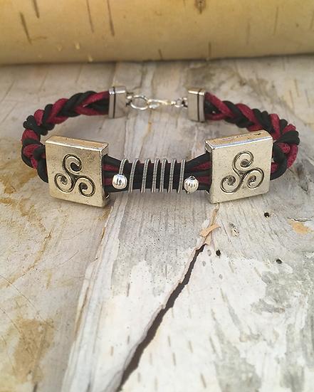 Multi Leather Guitar String Bracelet