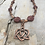 Thumbnail: Rose Copper Trinity Heart Necklace