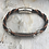 Thumbnail: Black & Brown Leather Electric Guitar String Bracelet