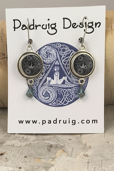 Silver Circle Of Life Earrings