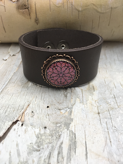 Antique Copper Troyes Star Cuff Brown