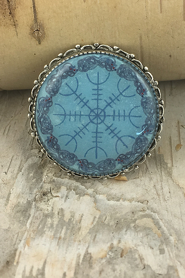 Blue Helm Of Awe Pin/Pendant