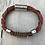 Thumbnail: Leather Electric Guitar String Bracelet Tan