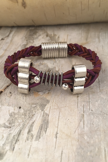 Leather Electric Guitar String Bracelet