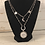 Thumbnail: Silver Sun, Moon, & Stars Double Necklace