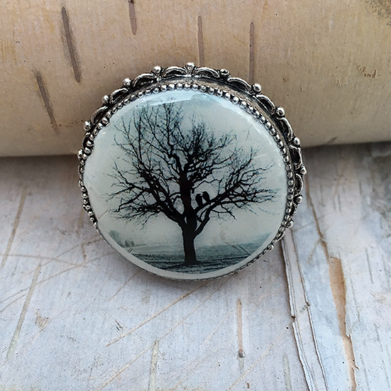 Raven Tree Pin/Pendant