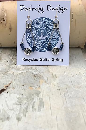 Capri Blue Bass String Earrings
