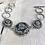 Thumbnail: Antique Silver Tri Fitheach Link Bracelet Lg