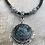 Thumbnail: Antique Silver Blue Tri Fitheach Necklace