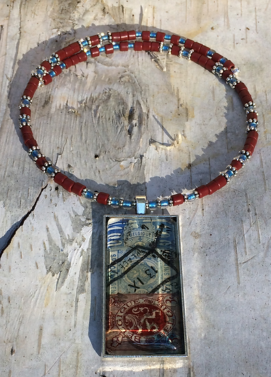 Antique Stamp Choker