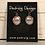 Thumbnail: Copper Crest Celtic Dragonfly Earrings