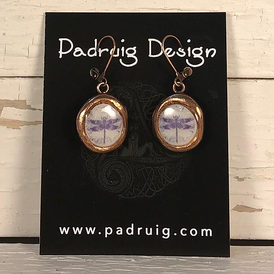 Copper Crest Celtic Dragonfly Earrings