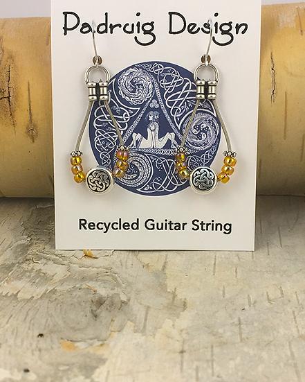 Amber Bass String Earrings
