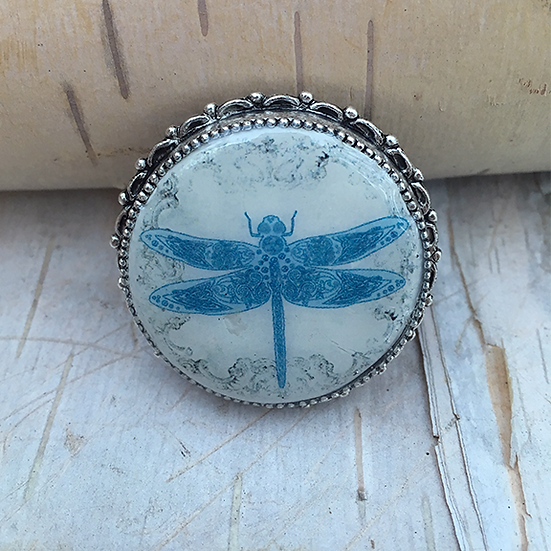 Blue Dragonfly Pin/Pendant