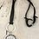 Thumbnail: Silver Helm Of Awe Deerskin Lace Necklace