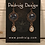 Thumbnail: Copper Multi Circle Of Life with Crystal Teardrop Earrings
