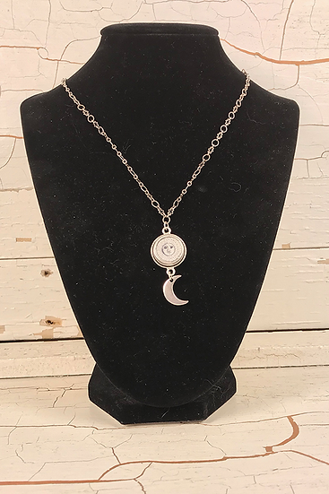 Silver Sun, Moon, and Star Mini Necklace