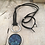 Thumbnail: Silver Blue Dream Horses Deerskin Lace Necklace