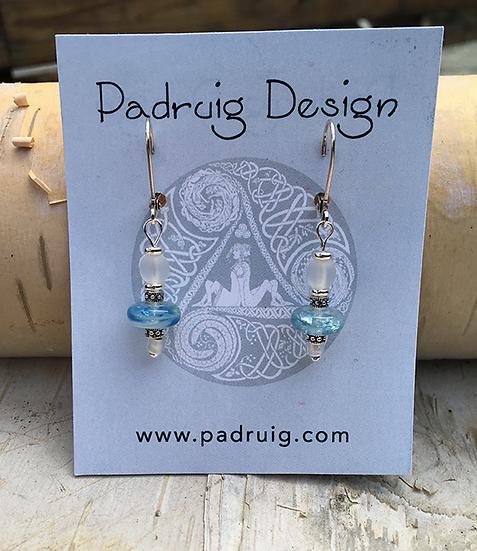 Blue Lamp Glass Earring