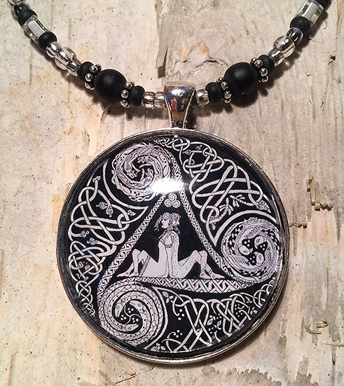 Celtic Circle Of Life Necklace - Black