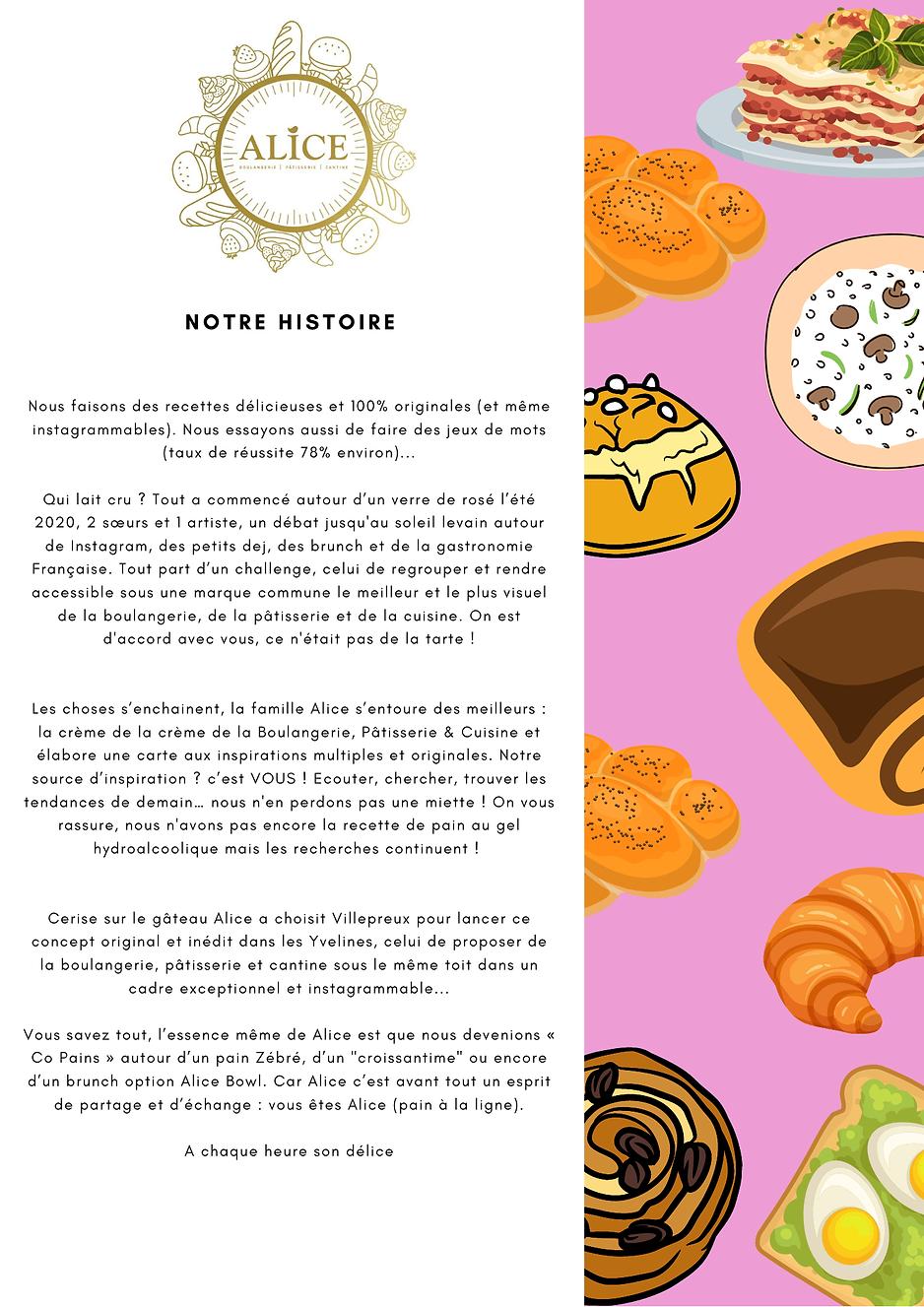 histoire alice oulangerie