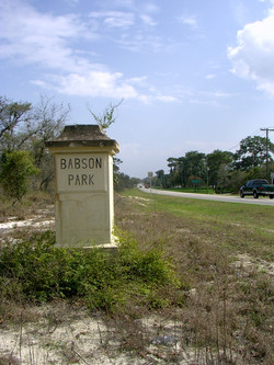 Babson Park Sign