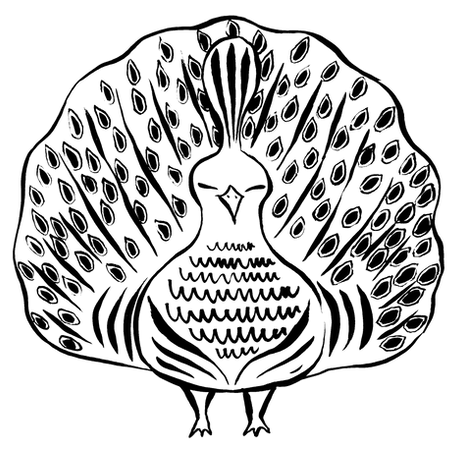 Lost Tea Peacock Logo