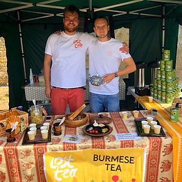 Harry Carr-Ellison and Jack Shaw on Lost Tea Stall