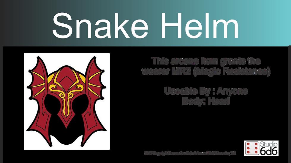RPEX Pin, Snake Helm
