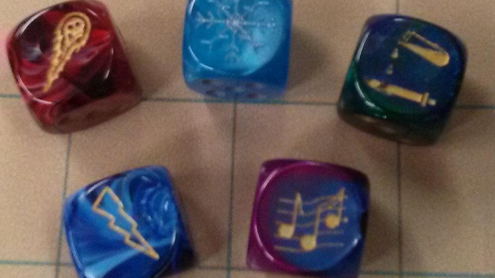 5 Elements, 5 Dice Set
