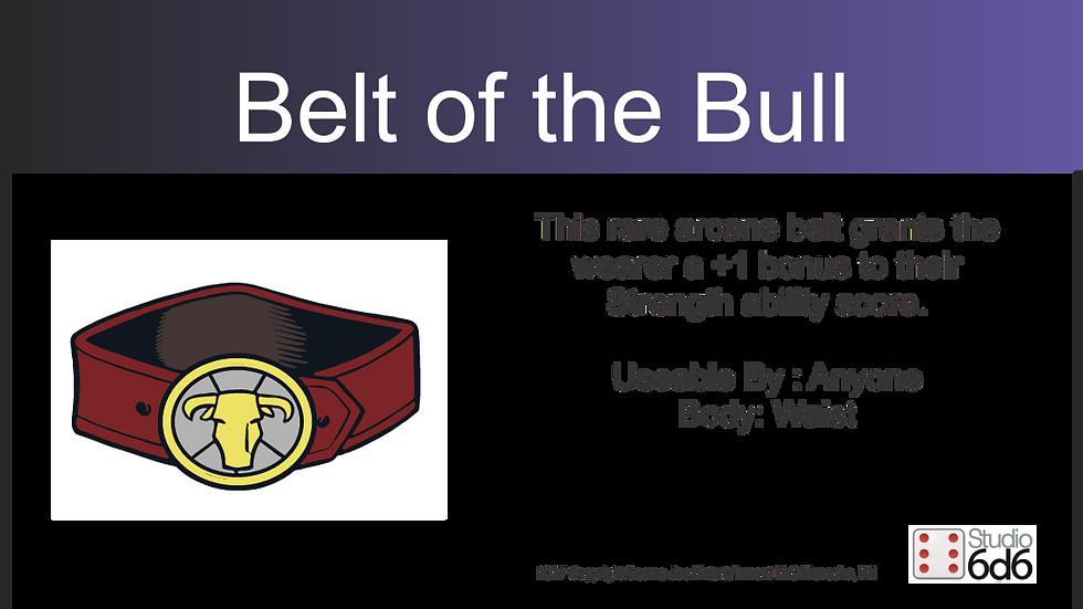 RPEX Pin, Belt of the Bull
