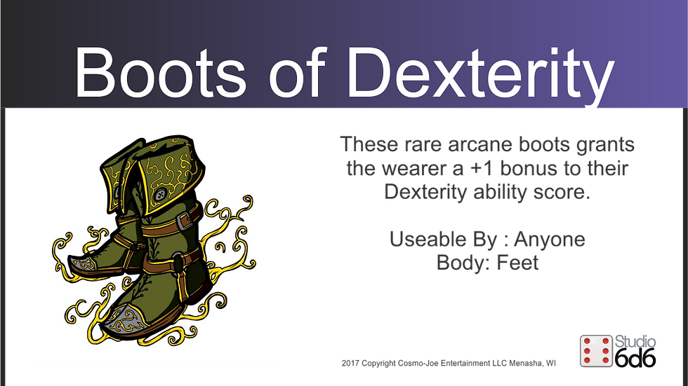 RPEX Pin, Boots of Dexterity