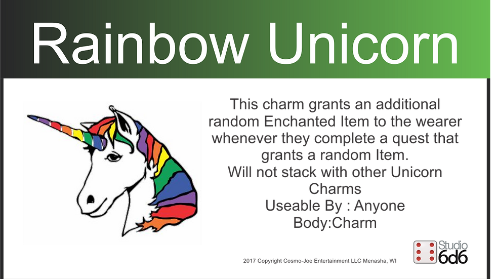 RPEX Pin, Rainbow Unicorn