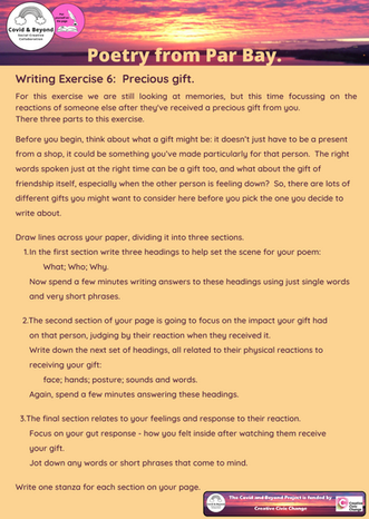Poetry Writing exercise 06 Precious Gift