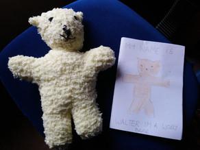 Pen-Pal get a bear hug