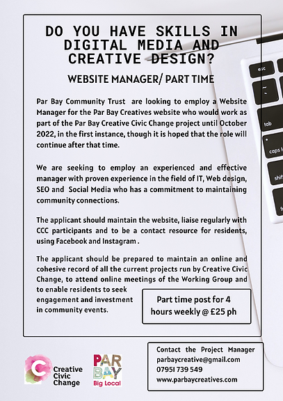 Website Manager_ Part Time  CCC Par Bay