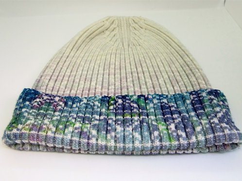 Nordic Ombre ribbed wool beanie