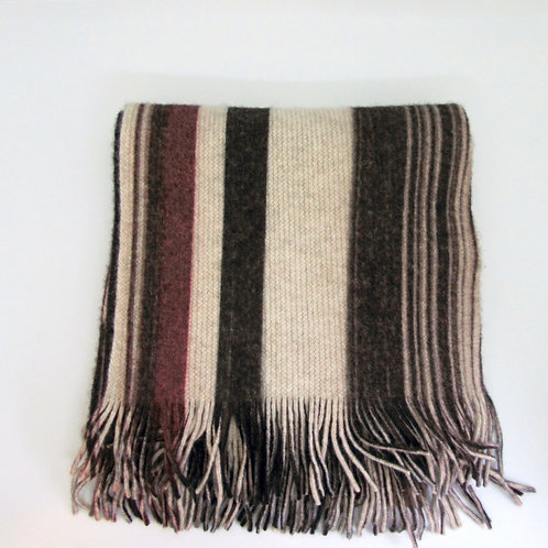 Painterly Stripe knitted lambswool scarf