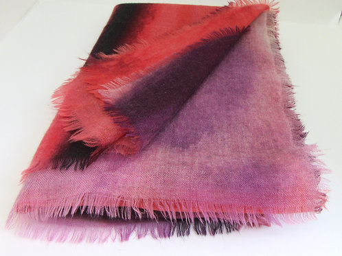 Warm Sky premium fine Scottish cashmere lightweight scarf