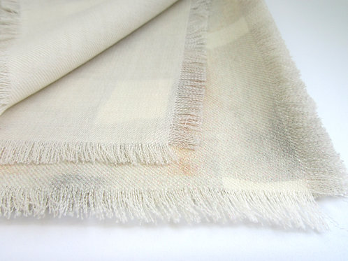Marble Ombre Check fine wool scarf